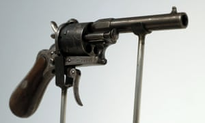 The revolver with which Verlaine tried to kill  Rimbaud