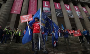 People protest against Brexit