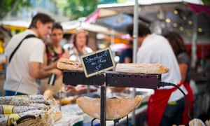 Sandwiches at Sunday market, Aix-en-Provence.