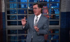 Stephen Colbert: 'I never thought I'd say this but these rallies where a nationalist leader whips people up into a racist frenzy might have a dark side.
