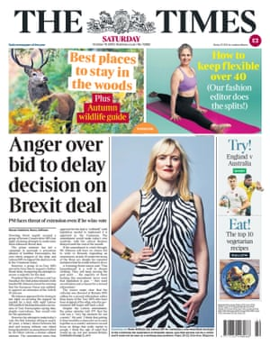 Times front page 19 october 2019
