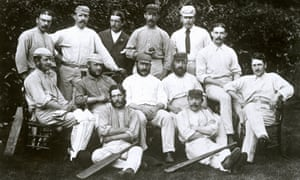 England lineup in Chichester a day before departure. Back (l-r): Harry Jupp, Tom Emmett, R Humphrey, Allen Hill, Tom Armitage and George Ulyett; centre: Ted Pooley, James Southerton, James Lillywhite (captain), Alfred Shaw and Andrew Greenwood; front: Henry Charlwood and John Selby.
