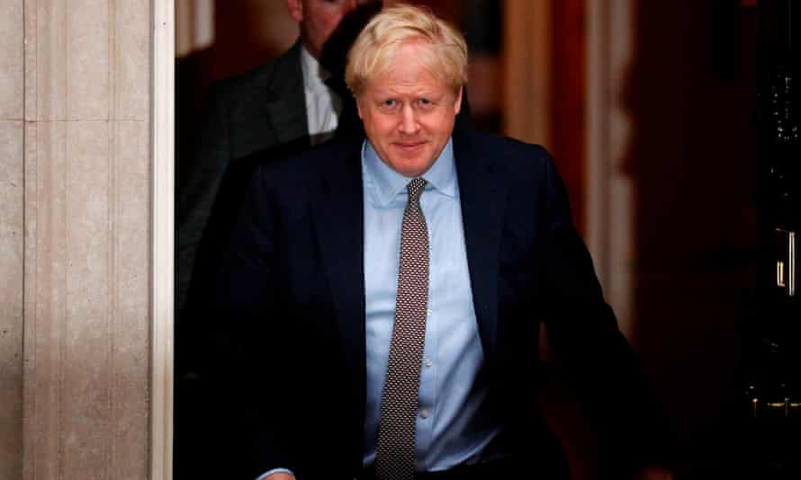 Boris Johnson leaves No 10 after Thursday's cabinet meeting.