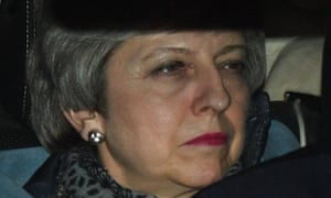 Theresa May leaves the Commons after MPs failed to back proposals on alternatives to her Brexit deal.