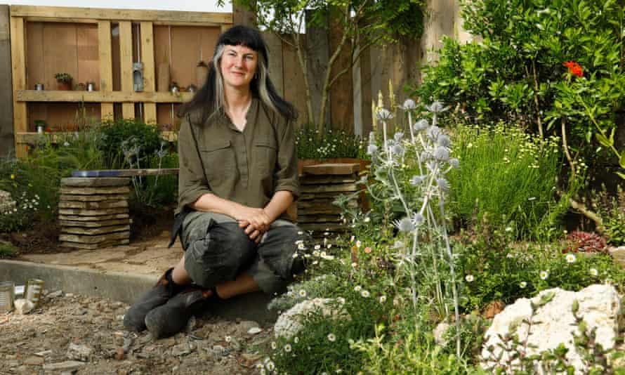 Amanda Grimes in her Punk Rockery garden