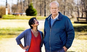 Sentimental whimsy … Rolf Lassgård as Ove and Bahar Pars as Parvaneh in A Man Called Ove.