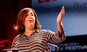 Dorothy Byrne addresses the Edinburgh Television Festival on 21 August.