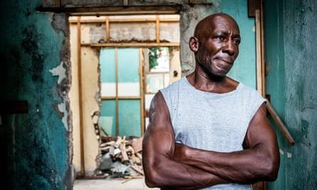 David Jameson, who is homeless on the streets of Kingston, Jamaica.