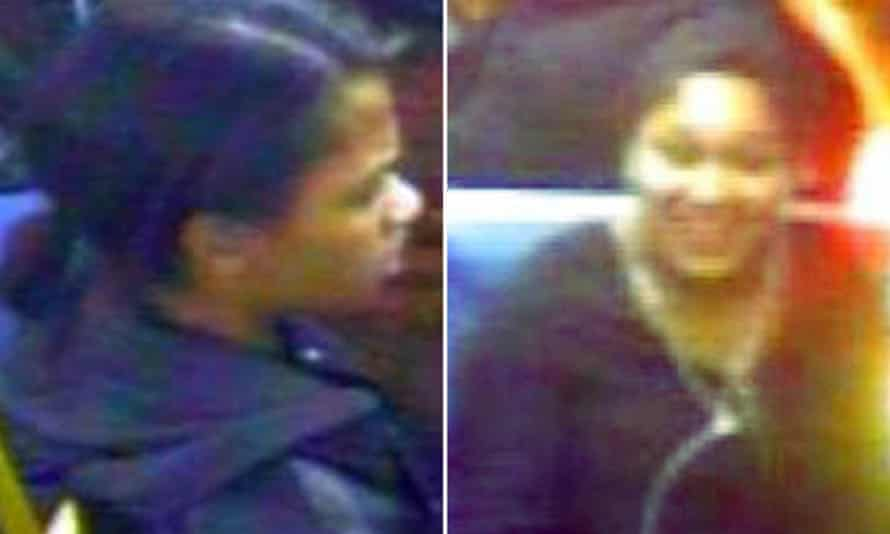 Police composite picture of two women wanted in connection with a suspected racist attack on a Muslim woman in Southwark