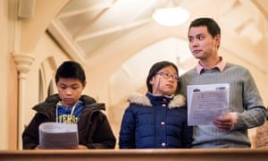 Joe Chen and his family attend services at The Lutheran Church of the Good Shepherd in Brooklyn, New York. Joe is a founding member of The New Sanctuary Coalition Accompaniment Program.