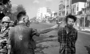 Eddie Adams's photograph of South Vietnamese police chief Nguyen Ngoc Loan executing a Viet Cong officer in Saigon, Vietnam in 1968.