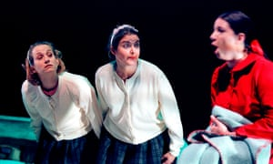 Emma Ashton, Adele Salem and Katherine Dow in the York Theatre Royal's 2000 adaptation of Behind the Scenes at the Museum.