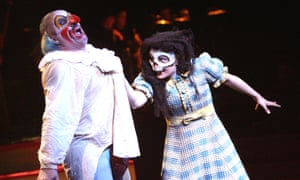 Andrew Shore (Punch) and Lucy Schaufer (Judy) in Birtwistle's first stage work.