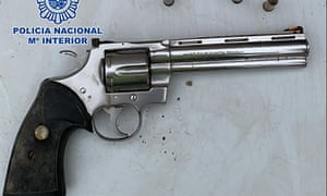 The Colt Python recovered during a series of raids in Torrevieja and Orihuela Costa
