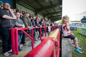Supporters watch the match against Havant and Waterlooville.