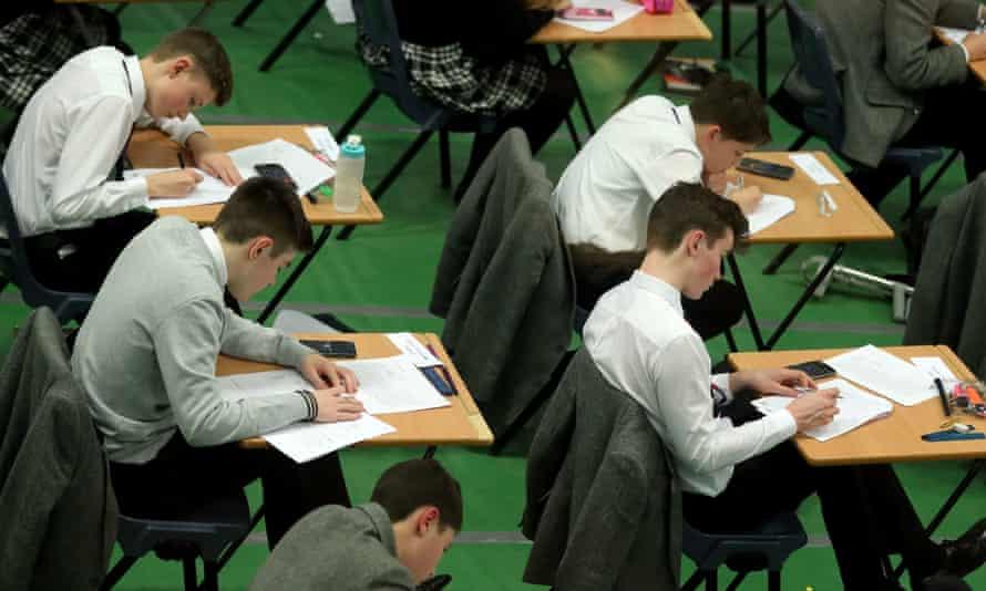 Pupils sit their GCSEs
