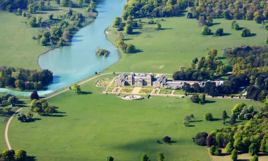 The sky's the limit: an aerial view of Holkham Hall and it's magnificent setting.