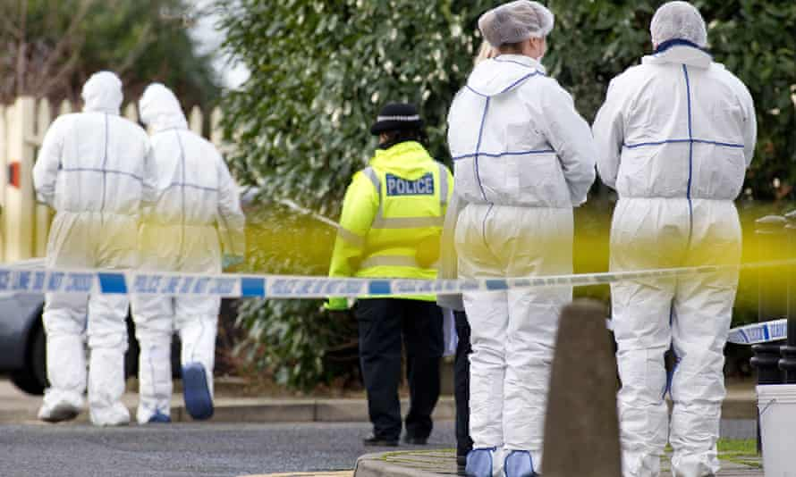Police and forensic officers