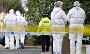 Scene of a murder in Stockport.