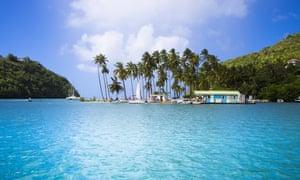 Marigot Bay in Saint Lucia.