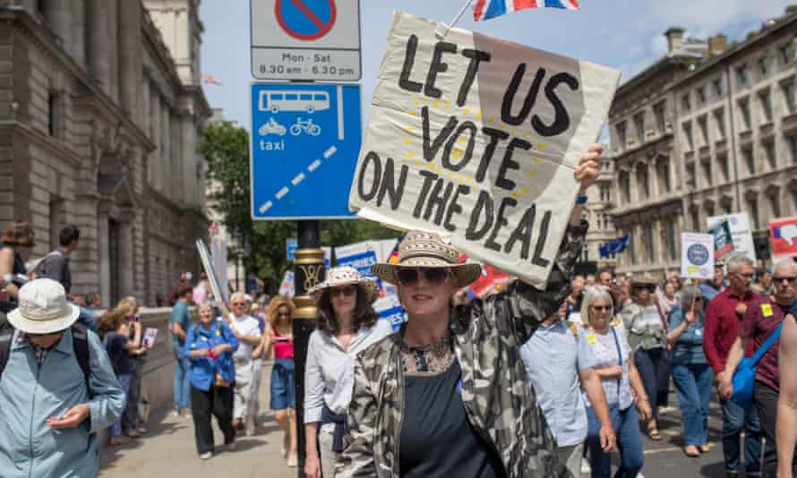 A march through central London to demand a vote on the final Brexit deal, 23 March