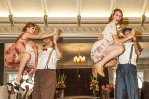 The Swing Katz dance at the Roaring 20s festival
