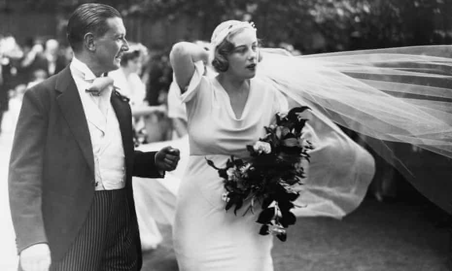 Chips and Lady Honor Guinness at their wedding in July 1933.
