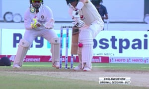 Joe Root LBW not out decision.