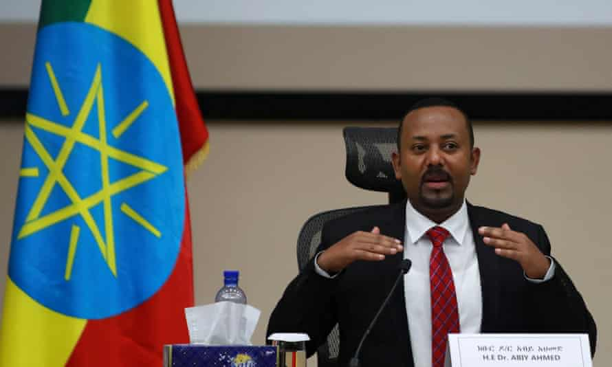 Abiy Ahmed addressing lawmakers in Addis Ababa in November, when the military operations against the TPLF were launched.