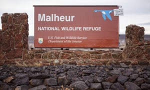 The Malheur national wildlife refuge near Burns, Oregon, pictured during the armed occupation in January.