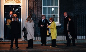 MPs arrive at No 10 for a drinks party hosted by Theresa May