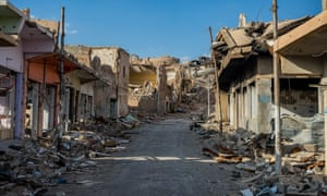 The ruins of Sinjar town, photographed in 2016.