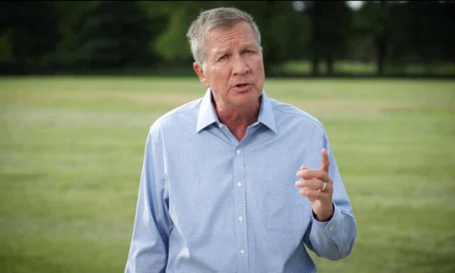 John Kasich, the Republican former governor of Ohio, endorses Joe Biden in a video for the Democratic national convention.