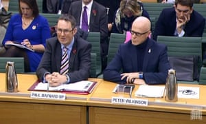 Peter Wilkinson, right, during a transport select committee hearing