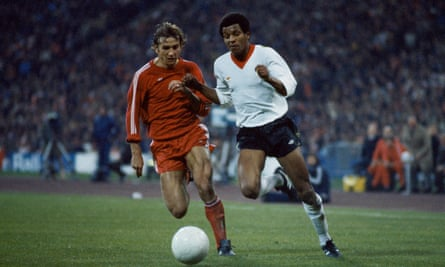 Howard Gayle in action for Liverpool against Bayern Munich during their European Cup semi-final second-leg tie in April 1981. Gayle came on for Kenny Dalglish and shone in the 1-1 draw that sent Liverpool to the final