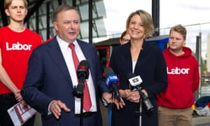 Anthony Albanese with Kristina Keneally