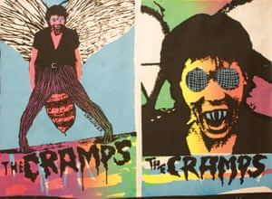 Led by Lux Interior and Poison Ivy, the Cramps emerged from New York's punk scene and had a kitsch horror-movie aesthetic, on show in this poster for their 1978 single Human Fly.