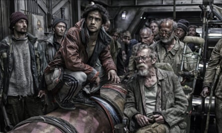 Bong Joon-ho's Snowpiercer (2013), with Luke Pasqualino and John Hurt.