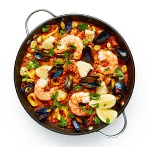 Felicity Cloake's seafood paella.