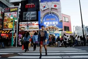 Nao Niitsu walks through Shin-Okubo district, known as Tokyo's Korea Town