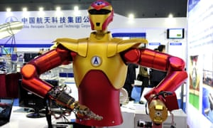 A robot on display at the China International Industry Fair in Shanghai