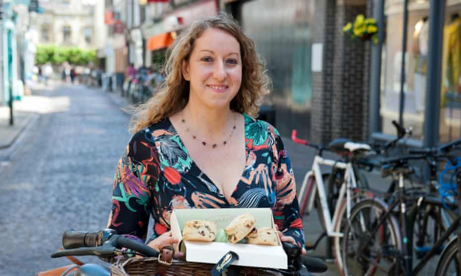 Donna Ferguson with scones and macaroons from Harriets Cafe Tearooms, via the Too Good To Go app, which saved her more than £13.