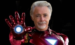 Eoin Colfer gets into character.