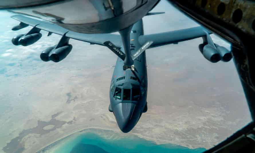 A US B-52 bomber over the Middle East