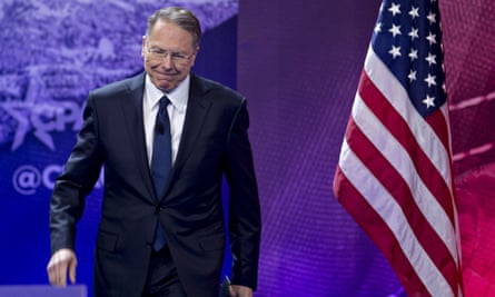 Wayne LaPierre. Dell'Aquila's lawsuit cites spending of $274,695 at a Beverly Hills clothing store on suits for the NRA's CEO.