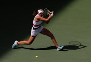 Johanna Konta of Great Britain in action.
