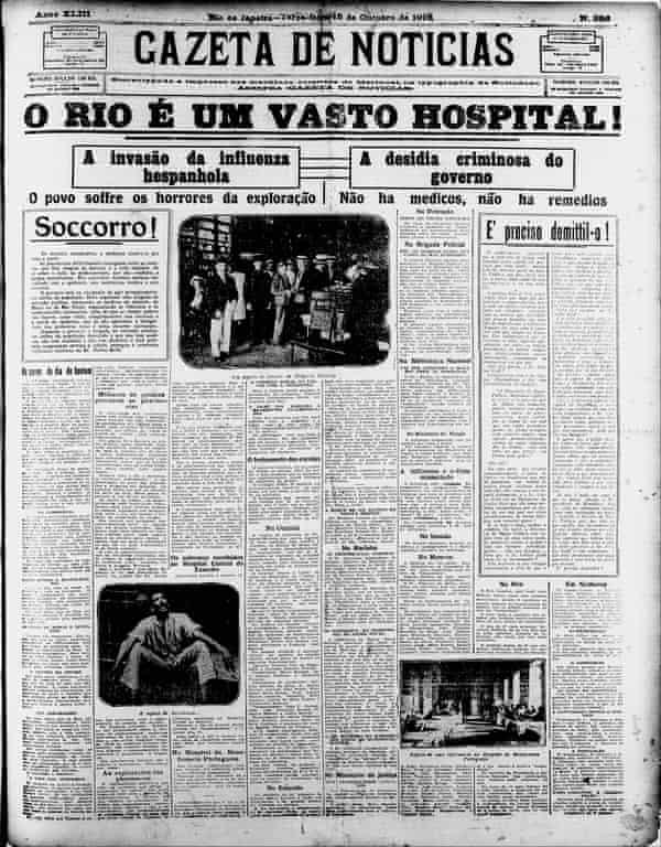 The Brazilian newspaper Gazeta de Noticias says 'Rio is an enormous hospital'.