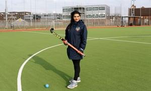 Kiran Kaur Gill on the hockey field.