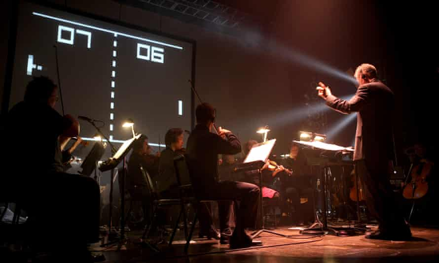 At Video Games Live in San Jose, early 2006, a full orchestra plays along to a game of Pong.
