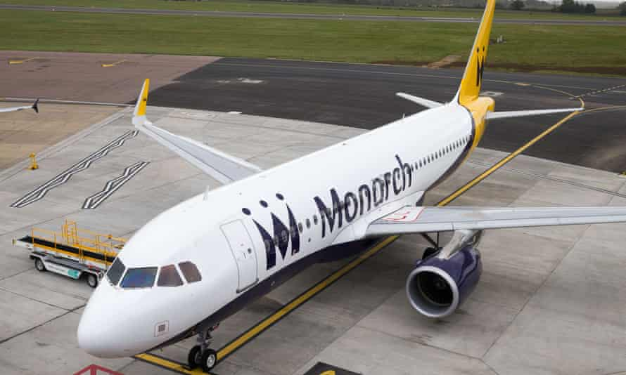 Monarch plane at Luton Airport